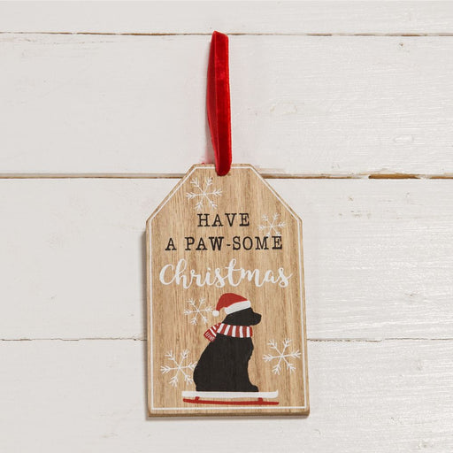 Have A Paw-Some Christmas Hanging Plaque