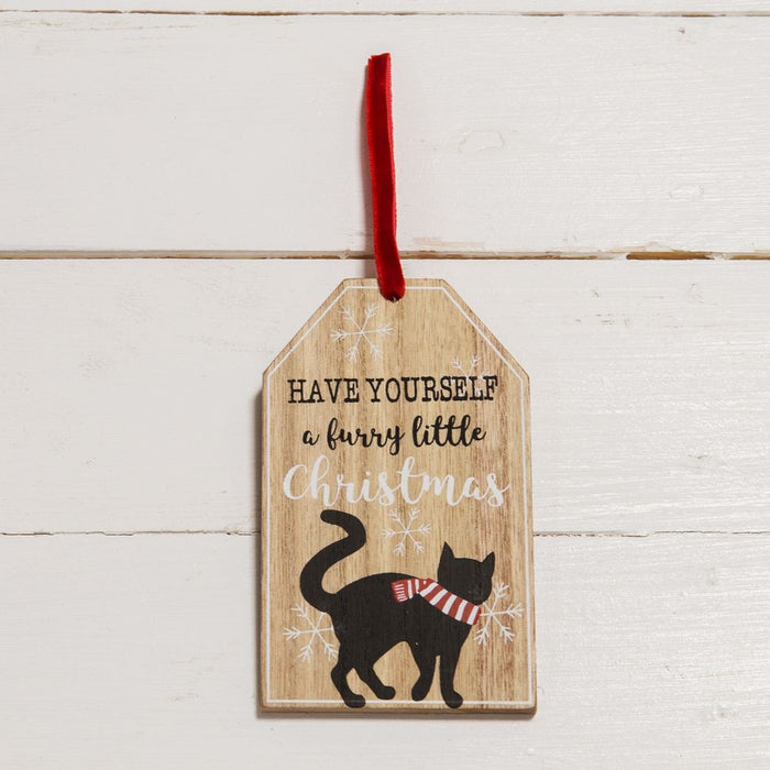 Have Yourself A Furry Little Christmas Hanging Plaque