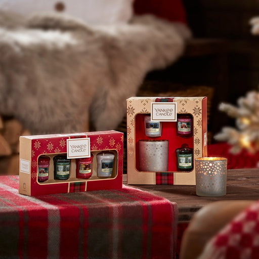 Yankee Candle Alpine Christmas Four Votives Gift Set