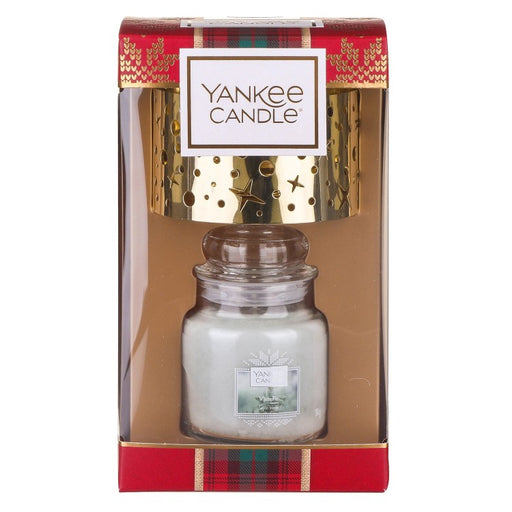 Yankee Candle Alpine Christmas White Fir Small Jar With Shade