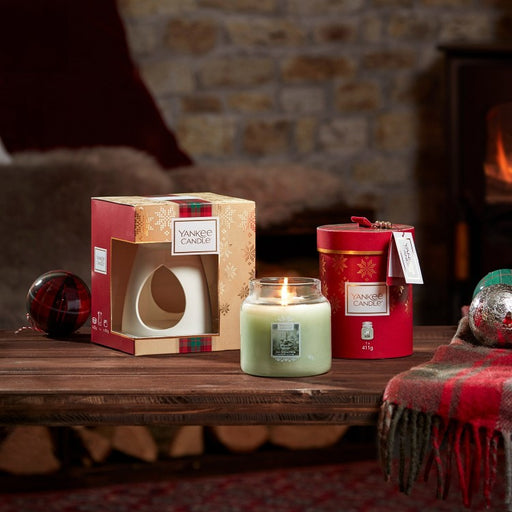 Yankee Candle Alpine Christmas Melt Warmer Set