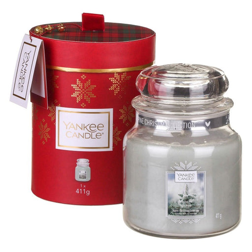 Yankee Candle Alpine Christmas White Fir Medium Jar Gift Set