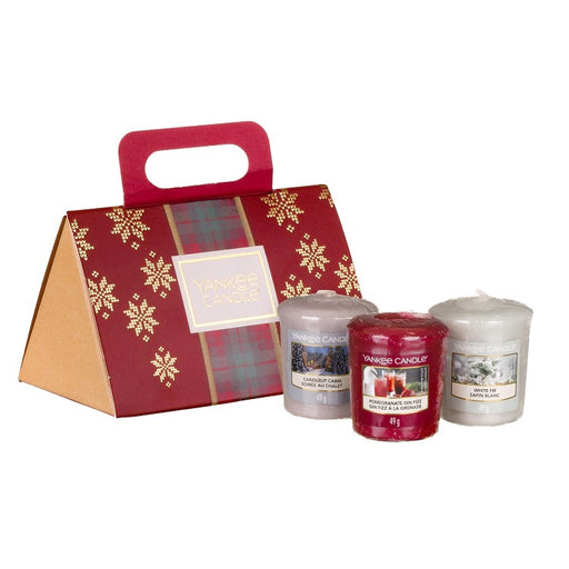 Yankee Candle Alpine Christmas Three Votives Purse Gift Set