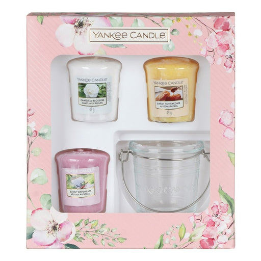 Yankee Candle Garden Hideaway Three Votives And Holder Gift Set