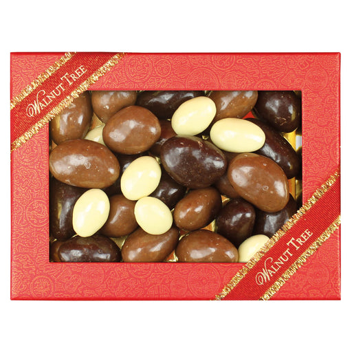 Walnut Tree Brazil Nuts Covered in Milk, White & Dark Chocolate