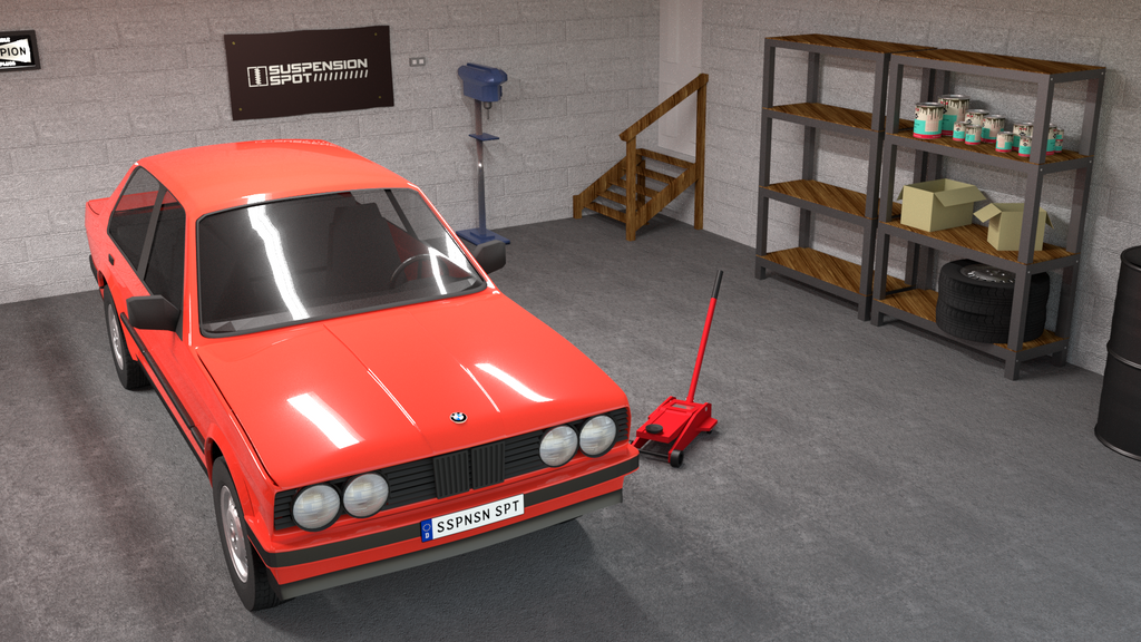 3D BMW e30 Suspension Series