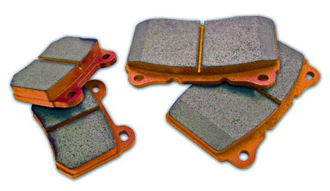 WRP Orange Brake Pads Rear - EVO X