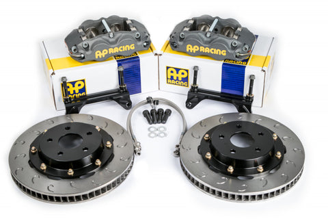 AP Racing Black Cross-Drilled Brake Kit For 00 - 09 Honda S2000