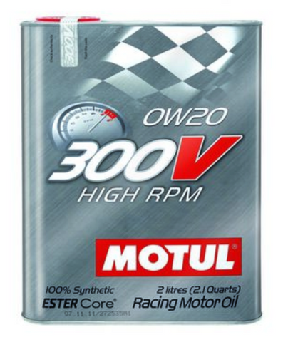 Motul 300V Synthetic Racing Engine Oil High RPM 0w20