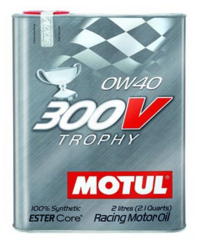 Motul 300V Synthetic Racing Engine Oil Trophy 0w40