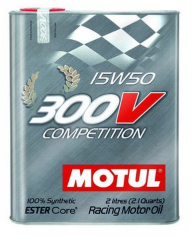 Motul 300V Synthetic Racing Engine Oil Competition 15w50