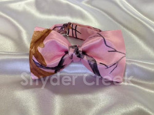 True Timber Snowfall Pink Bow Tie