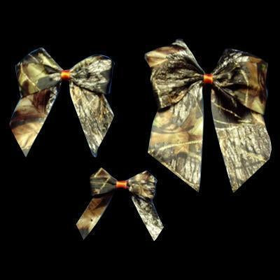 Mossy Oak® New Break Up Satin Bows w/ Orange Center