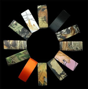 Satin Camouflage Barrettes- Conceal Green