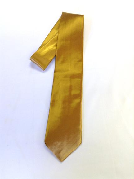Men's satin dress tie (Lace Gold)