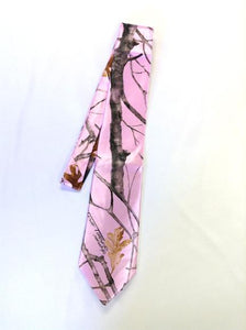 True Timber® Snowfall Pink Men's satin dress tie