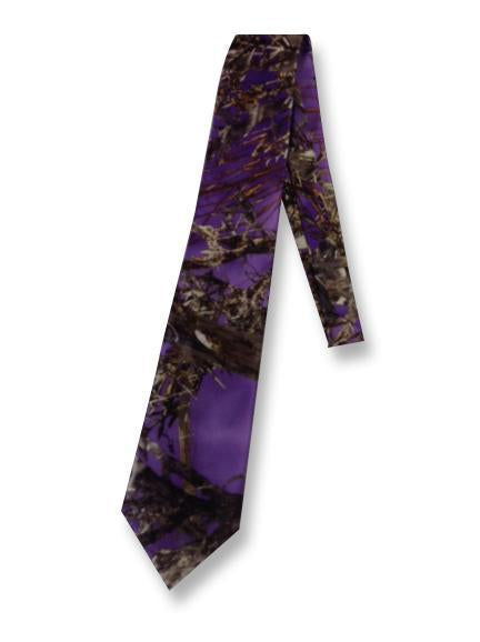 True Timber® MC2 Purple Men's satin dress tie