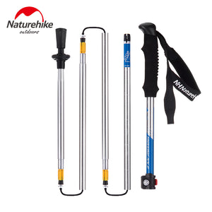 NatureHike ultrashort Walking Stick Hiking Ultralight Canes Adjustable Aluminum Folding Cane NH Portable Walking Sticks