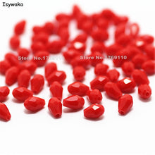 Isywaka 100pcs Teardrop Beads Austria Crystal Beads Waterdrop Beads Loose Spacer Bead for DIY Jewelry Making,3x5mm,U Pick Colors