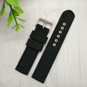 Nylon Mesh Watchbands Fashion Black Brown 20mm 22mm 24mm Womens Mens Sport Watch Band Strap Stainless Steel Buckle Accessories