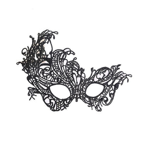 Masquerade Lace Mask Catwoman Halloween Black Cutout Prom Party Mask Accessories