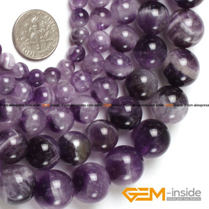 Round Dream Lace Color Amethysts Beads Natural Stone Beads DIY Loose Beads For Jewelry Making Beads Strand 15 Inches Wholesale