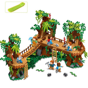 686PCS Mine Compatible Legoe MY WORLD Minecrafted Forest Model Building Blocks Set Brick Action Figure Toys Gift For Children