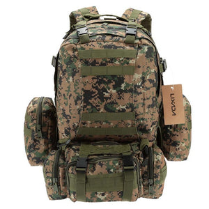 Lixada 50L Military Tactical Backpack Climbing Rucksack Cycling Backpack Outdoor Bags Travel Sports Bag with MOLLE Webbings Men