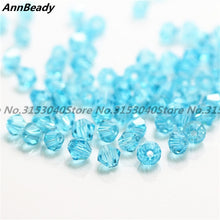 100pcs Blue Golden Color 4mm Bicone Crystal Beads Glass Beads Loose Spacer Beads DIY Jewelry Making Austria Crystal Beads