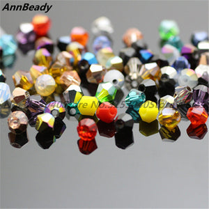 100pcs Red Purple AB Color 4mm Bicone Crystal Beads Glass Beads Loose Spacer Beads DIY Jewelry Making Austria Crystal Beads