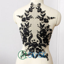 2018 French lace fabric embroidered bodice lace applique wedding dress lace ribbon for needlework DIY sew patchwork lace trim