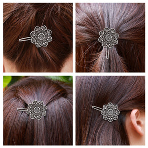 MYAROMA FINDINGS Women Exquisite Flower Hair Clip Vintage Retro Hairgrips Hair Decorations Accessories Jewelry