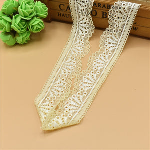beautiful 5Yard Stretch elastic stretch lace ribbon french african lace trimmings for sewing white Lace Trim african lace fabric