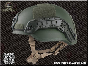EMERSON ACH MICH 2002 Helmet Special action Version Tactical Military Airsoft Helmet Multicam Black EM8980