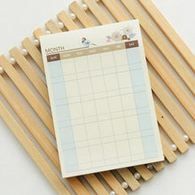 Korean Kawaii Cute Weekly Monthly Plan Time Schedule Checklist Desk Note Pad Planner Agendas Sticky Notes Memo Pad
