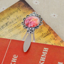 New Fashion Retro Glass Cabochon plant  Pattern Design Alloy Bookmarks for Book creative Vintage Bookmark Supplies 221