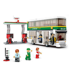 BOHS Compatible with Lego, Single Double Deck School City Bus Plane DIY Bricks Toy Sets, No retail box,Kids Building Blocks