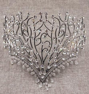 Luxury Wedding Crown Alloy Bridal Tiara Baroque beauty Queen Crown water drop tiara Fashion show crown Miss world headband