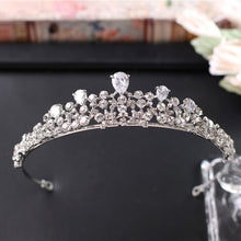 Cubic Zirconia Tiaras and Crowns Bridal Wedding Tiara de noiva Birthday Crown Party Accessories Hair Decorations for the Bride