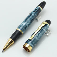 JINHAO X450 Sky Blue/Black/Gold/Red /Pink/Purple Marbled Roller Ball Pen Without Pencil Box luxury writing gift pens