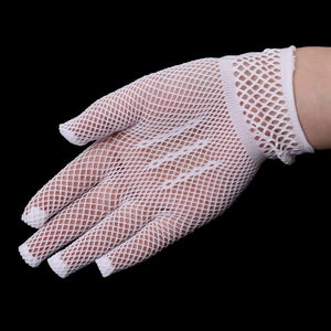 KLV Girls Gloves Princess Mesh Accessories Hollow Bow Knot Prom For Kids Bride