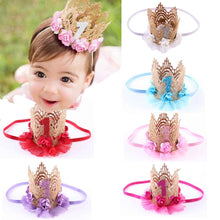 Newborn Crown Headband for Hair Accessories Princess Crown Headband Tiara Hair Band Headband Kids Elastic Flower Crown Headwear