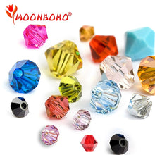 4mm 6mm Bicone Crystal Beads Glass Beads Loose Spacer Beads DIY Jewelry Making Austria Crystal Beads Jet Siam Red Colors