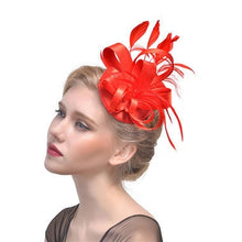 New Products Banquet Bride Headwear Feather Hair Manual Decorate Stage Party Formal Hat Hair Decorate