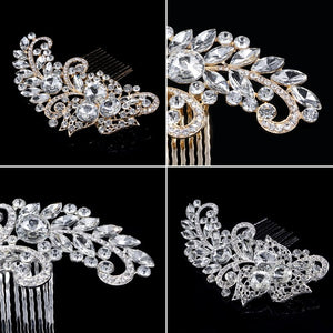 Bride Comb Women Rhinestone Jewelry Hair Accessories Handmade Wedding Prom Tiara