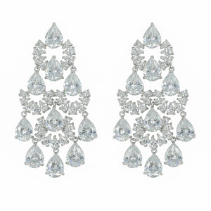 Popular Full CZ Cubic Zirconia Drop Dangle Bridal Wedding Earring for Women Prom Jewelry Accessories CE10169