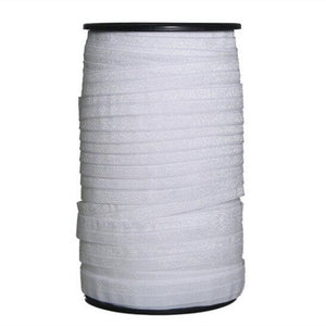 "(5/8"")15mm width shiny white fold over elastic , high quility elasticity elastic for hair headbands,100 yard 1 roll  AA7646"