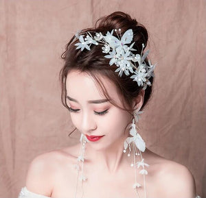 Crystal hair pin and earrings for wedding day bridal hair decoration Charm Handmade Bridesmaid Bridal Veil Hair Accessories