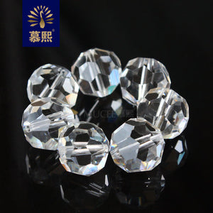 200PCS diameter 12MM AAA grade clear glass earth bead  32 cut pineapple beads DIY crystal bead curtain Transparent crystal beads