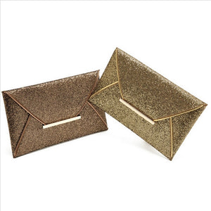 Fashion Black Coffee Charming Wallet Purse Women Gold Sequins Bag Purse Clutch Handbags Envelope evening Bag Pattern Shiny Purse